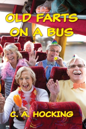 2020 OLD FARTS ON A BUS Front Cover yellow text KDP Paperback